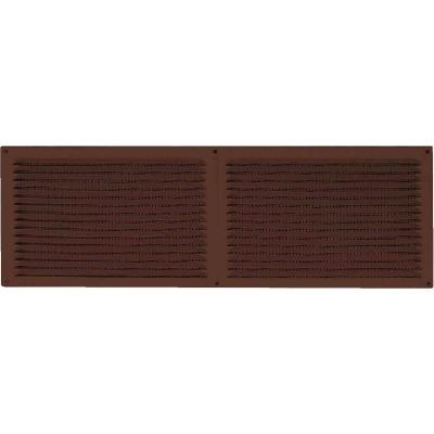 NorWesco 16 In. x 6 In. Brown Galvanized Soffit Ventilator