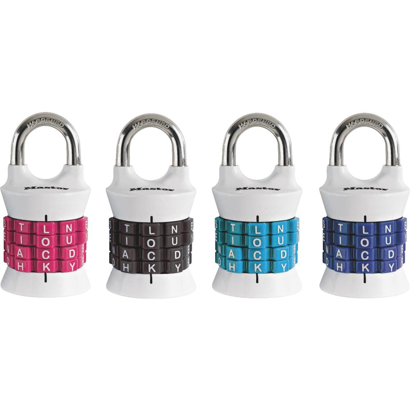 Master Lock 1-1/2 In. Zinc Alpha Barrel Combination Padlock Image 1
