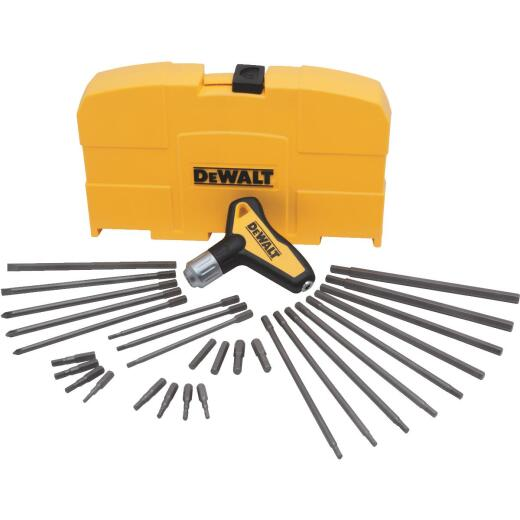 DeWalt Metric & Standard T-Handle Hex Key Set, 31-Piece