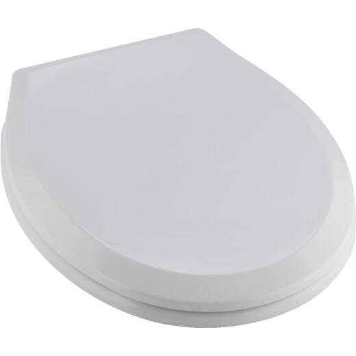 Home Impressions Round Closed Front Slow Close White Plastic Toilet Seat
