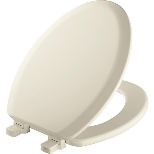 Mayfair Elongated Closed Front Biscuit Wood Toilet Seat