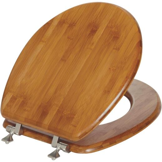 Mayfair Round Closed Front Bamboo Veneer Toilet Seat