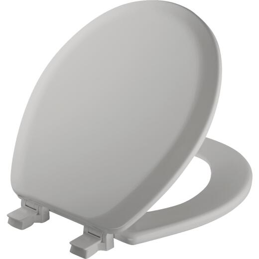 Mayfair Advantage Round Closed Front Silver Wood Toilet Seat