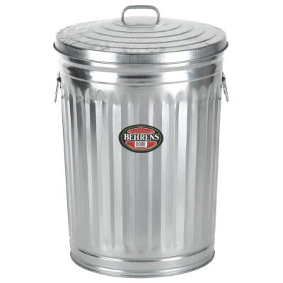 Behrens 31 Gal. Silver Trash Can with Lid