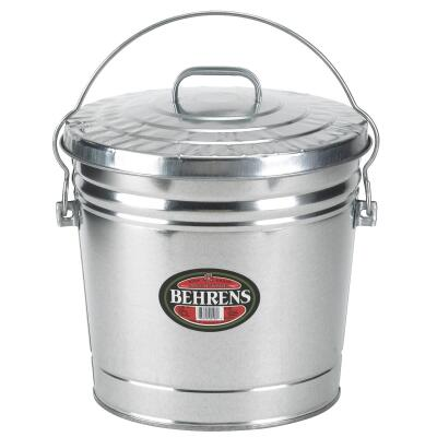 Behrens 6 Gal. Silver Galvanized Garbage Trash Can Pail with Lid