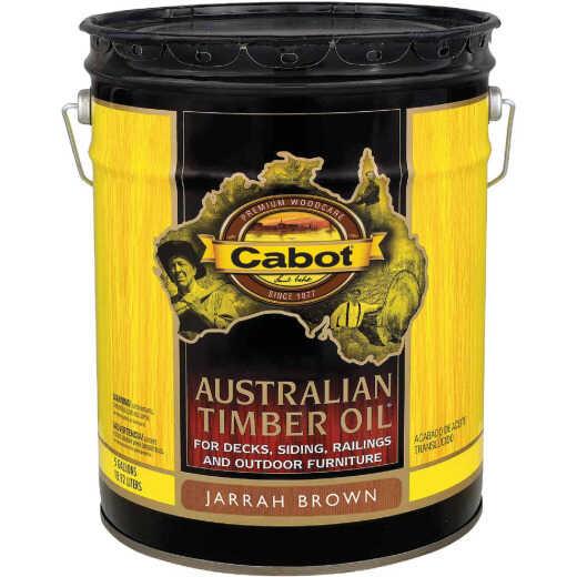 Cabot Australian Timber Oil Translucent Exterior Oil Finish, Jarrah Brown, 5 Gal.