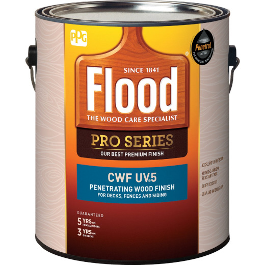 Flood CWF - UV5 Pro Series Wood Finish Exterior Stain, Natural, 1 Gal.